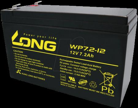 Aкумулаторна батерия Long WP7.2-12A, 12V 7.2Ah F2, за UPS, 151 х 65 х 94 мм
