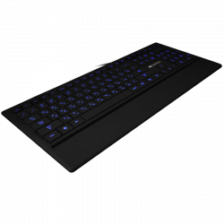 CANYON-Keyboard-CNS-HKB6-Wired-USB-Slim-with-Multimedia-functions-LED-backlight-Rubberized-surface-Adriatic