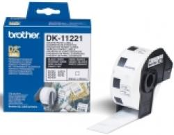 Brother-DK-11221-Square-Paper-Labels-23mmx23mm-1000-labels-per-roll-Black-on-White-