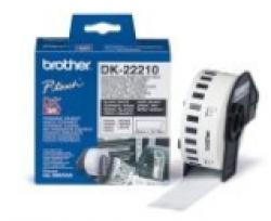 Brother-DK-22210-Roll-White-Continuous-Length-Paper-Tape-29mmx30.48M-Black-on-White-