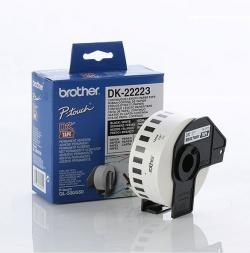 Brother-DK-22223-White-Continuous-Length-Paper-Tape-50mm-x-30.48m-Black-on-White