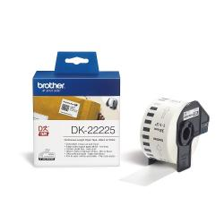Brother-DK-22225-White-Continuous-Length-Paper-Tape-38mm-x-30.48m-Black-on-White
