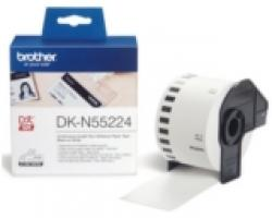 Brother-DK-N55224-Roll-White-Continuous-Length-Non-Adhesive-Paper-Tape-54mmx30.48M-Black-on-White-