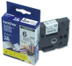 Brother-TZe-211-Tape-Black-on-White-Laminated-6mm-Eco