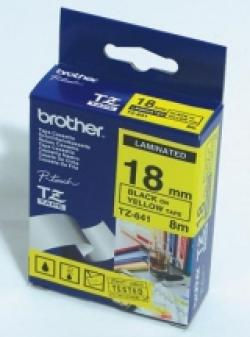 Brother-TZe-641-Tape-Black-on-Yellow-Laminated-18mm-Eco