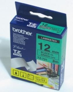 Brother-TZe-731-Tape-Black-on-Green-Laminated-12mm-8m-Eco