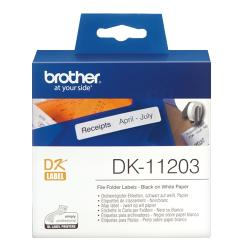 Brother-DK-11203-File-Folder-Labels-17mm-x-87mm-300-labels-per-roll-Black-on-White
