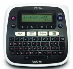 P-Touch-Labelling-system-BROTHER-PTD200R-Desktop-QWERTY-keyboard-TZ-tapes-3.5-to-12-mm-Cutter-blade-Battery-and-adapter-operation-15-characters-LCD-Deco-Mode-1TZE231-12mm-black-on-white-Adapter-AD-24ES