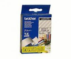 TZ-Tape-BROTHER-9mm-Black-on-Clear-Laminated-8m-lenght-for-P-Touch