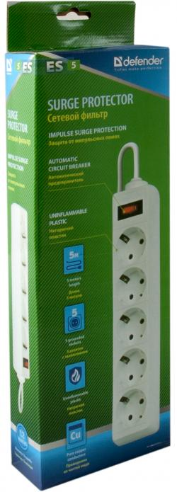 Defender-Protektor-ES-5-outlets-5.0-m-white