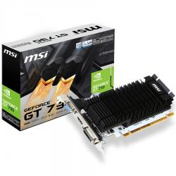 MSI-NVIDIA-GeForce-GT-730-2048MB-DDR3-64-bit-1600-Mbps-Effective-Memory-Speed-902-MHz-Core-Clock-PCI-Express-2.0-1x-HDMI-1.4a-1x-Dual-link-DVI-D-1x-D-Sub-300W-Recommended-PSU