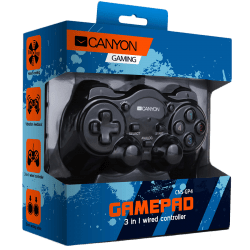 CANYON-3in1-wired-controller-gamepad-hand-cooling-vibration-feedback-dual-tigger-and-rubberized-surface-Compatible-with-PC-PS2-PS3-