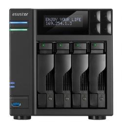 Asustor-AS7004T-4-Bay-NAS-Intel-Core-i3-3.5-GHz-Dual-Core-2GB-DDR3-max.-16GB-4x-2.5-3.5-SATAII-SATAIII-or-SSD-GbE-x-2-HDMI-SPDIF-PCI-E-10GbE-ready-USB-3.0-SATA-LCD-Panel-WoL-System-Sleep-Mode-24-Ch.-IP-Cam-4-license-incl.-