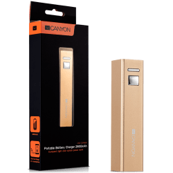 CANYON-CNE-CSPB26GO-Aluminium-compact-battery-charger.-Color-golden-Capacity-2600mAh-Output-DC5V-1A-Input-DC5V-1A-Output-Charging-1.5-2-hours-Input-Charging-2-3-hours.-Cycle-Life-500-times