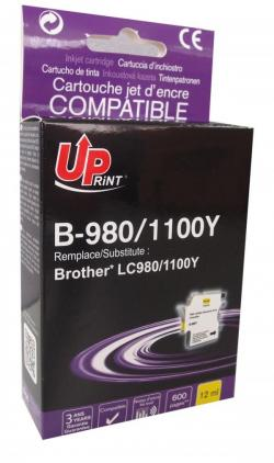 Patron-BROTHER-LC980-1100-YELLOW-12ml-600k-Uprint