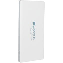 CANYON-Power-bank-5000mAh-Color-White-bulit-in-Lithium-Polymer-Battery