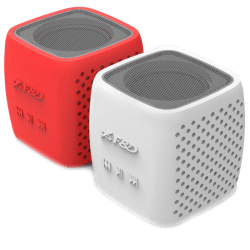 Multimedia-Bluetooth-Speakers-F-D-W4-Power-output-3W-1.5-inch-driver-and-passive-radiator-Bluetooth-4.0-360-degree-sound-field-changable-colorful-cover-micro-SD-card-3.5mm-Aux-input-Li-ion-battery-1000mA-Red-White