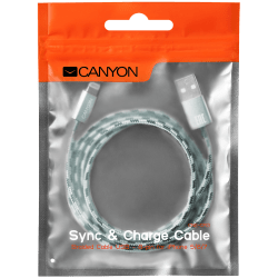 CANYON-Lightning-USB-Cable-for-Apple-braided-metallic-shell-1M-Green
