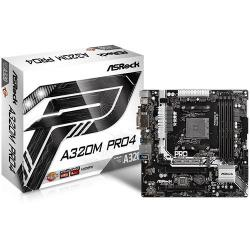 ASROCK-Main-Board-Desktop-AM4-A320-SAM4-4xDDR4-2xPCI-3.0x16-mATX-Retail