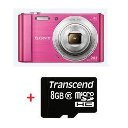 Sony-Cyber-Shot-DSC-W810-pink-Transcend-8GB-micro-SDHC