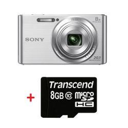 Sony-Cyber-Shot-DSC-W830-silver-Transcend-8GB-micro-SDHC