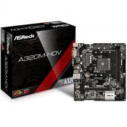 ASROCK-Main-Board-Desktop-AM4-A320-2xDDR4-1xPCI-E-x1-1xPCI-E-x16-Micro-ATX