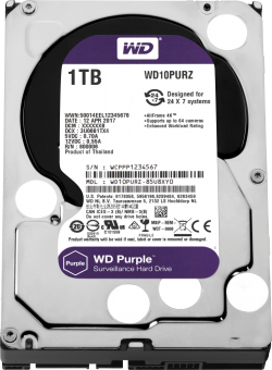 HDD-1TB-WD-Purple-WD10PURZ-64MB-S-ATA3