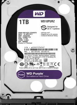 HDD-1TB-WD-Purple-WD10PURZ-64MB-S-ATA3