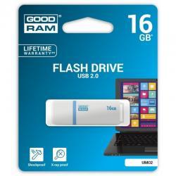 GOODRAM-16GB-UMO2-WHITE-USB-2.0
