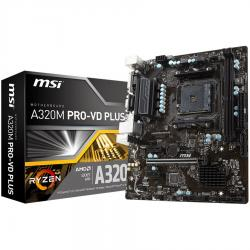 MSI-A320M-PRO-VD-PLUS-AM4-AMD-A320-SATA-6Gb-s-USB-3.1-Micro-ATX-AMD-Motherboard