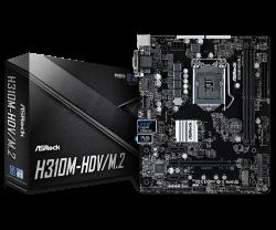 ASROCK-Main-Board-Desktop-H310-S1151-2xDDR4-1xPCIe-x16-2xPCI-Ex1-4-SATA3-