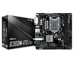 ASROCK-B360-S1151-2xDDR4-1xPCIe-x16-4xSATA3-1xM.2-GLAN-DVI-HDMI-DP-USB-3.1-