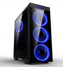 Makki-Case-ATX-Gaming-MAKKI-8872-BLUE-4x120mm-BLUE-double-ring-fans