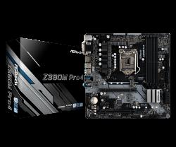 ASROCK-Main-Board-Desktop-Z390-S1151-4xDDR4-2xPCIe-x16-2xPCI-Ex1-mATX-retail