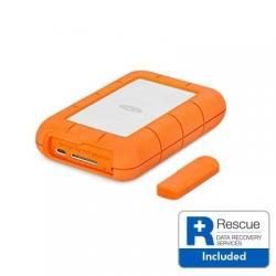 Lacie-4TB-Rugged-USB-C-2.5-Silver-Orange