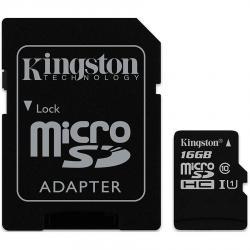 Kingston-16GB-microSDHC-Canvas-Select-80R-CL10-UHS-I-Card-SD-Adapter-EAN-740617274646