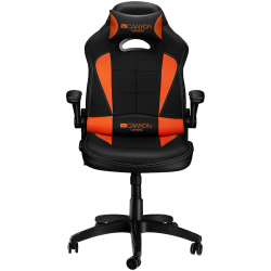 Gaming-chair-PU-leather-Original-and-Reprocess-foam-Wood-Frame-black+Orange.