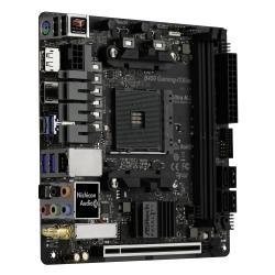 ASROCK-Main-Board-Desktop-AM4-B450-SAM4-2xDDR4-2xPCI-3.0x16-Mini-ITX-Retail