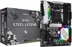 ASROCK-B450M-STEEL-LEGEND-B450-4xDDR4-HDMI-DP-PCIe-3.0-x16-PCIe-2.0-x1-mATX