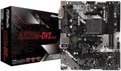ASROCK-Desktop-AM4-A320-2xDDR4-3xPCI-E-x16-DVI-D-VGA-6-USB-3.0-mATX
