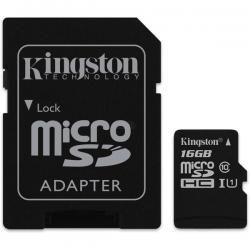 Micro-SDHC-16G-UHS-I-Cl10+Adapter-Kingston-Select