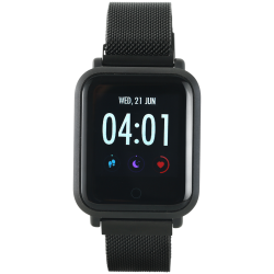 Smart-watch-1.22inch-colorful-LCD-2-straps-metal-strap-and-silicon-strap-Black