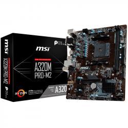 MSI-Main-Board-Desktop-A320-SAM4-2xDDR4-PCI-Ex16-2xPCI-Ex1-mATX-Retail