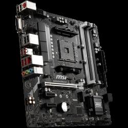 MSI-Main-Board-Desktop-B450-SAM4-4xDDR4-1xPCI-Ex16-2xPCI-Ex1-mATX-Retail