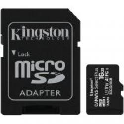 Kingston-16GB-micSDHC-Canvas-Select-Plus-100R-A1-C10-Card-ADP-EAN-740617297300