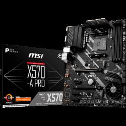 MSI-Main-Board-Desktop-X570-SAM4-4xDDR4-2xPCI-Ex16-3xPCI-Ex1-ATX-Retail