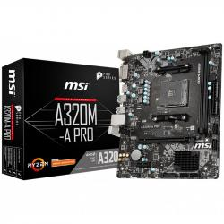 MSI-Main-Board-Desktop-A320-SAM4-2xDDR4-PCI-Ex16-PCI-Ex1-mATX-Retail