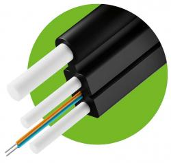 Dielektrichen-optichen-kabel-Figura-8-s-FRP-noseshto-vyzhe-2xG657A-vlakno