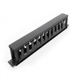 Formrack-19-1U-Cable-Management-Panel-with-PVC-trunking-cut-1U-482x88x48mm