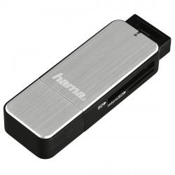 Chetec-za-karti-HAMA-123900-USB-3.0-SD-microSD-srebrist
